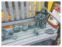 Bench with Statues - Outdoor Furniture | Denver, PA